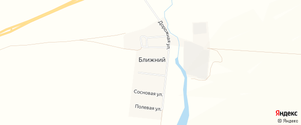 Карта Ближнего поселка в Челябинской области с улицами и номерами домов