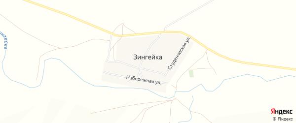 Карта поселка Зингейки в Челябинской области с улицами и номерами домов