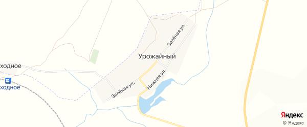 Карта Урожайного поселка в Челябинской области с улицами и номерами домов