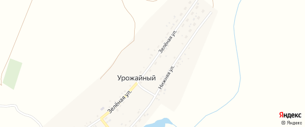 Зеленая улица на карте железнодорожной станции Гумбейки с номерами домов