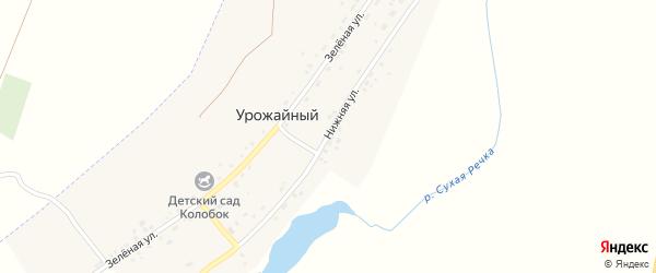 Нижняя улица на карте Урожайного поселка с номерами домов