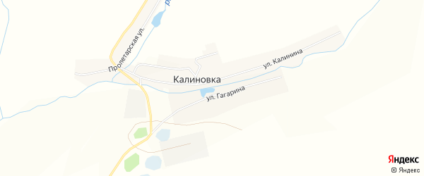Карта села Калиновки в Челябинской области с улицами и номерами домов