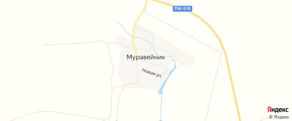 Карта поселка Муравейника в Челябинской области с улицами и номерами домов