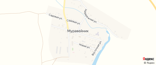 Набережная улица на карте поселка Муравейника с номерами домов