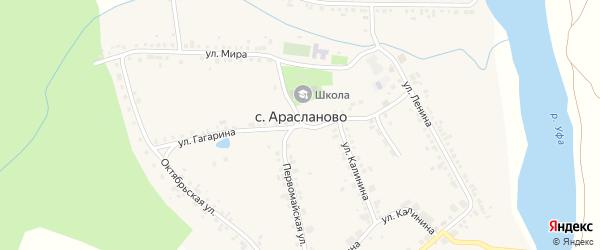 Улица 22 съезда КПСС на карте села Арасланово с номерами домов