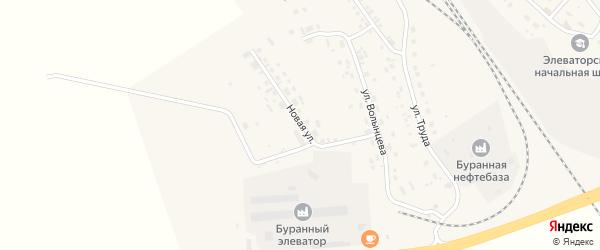 Новая улица на карте Буранной железнодорожной станции с номерами домов