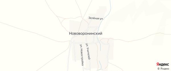 Карта Нововоронинского поселка в Челябинской области с улицами и номерами домов