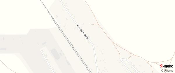Ремонтная улица на карте Буранной железнодорожной станции с номерами домов
