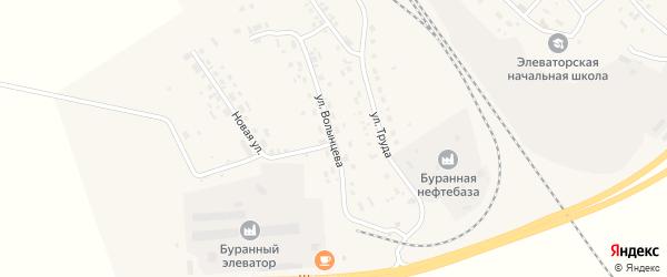 Улица Волынцева на карте Буранной железнодорожной станции с номерами домов