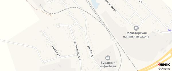 Улица Труда на карте Буранной железнодорожной станции с номерами домов