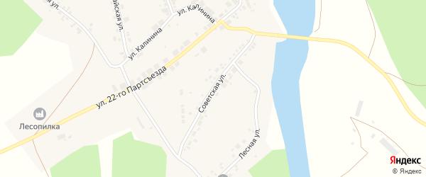Советская улица на карте села Арасланово с номерами домов