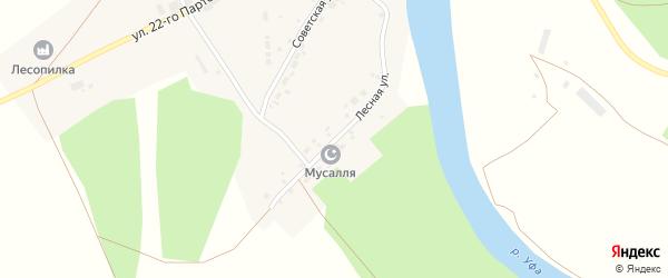 Лесная улица на карте села Арасланово с номерами домов
