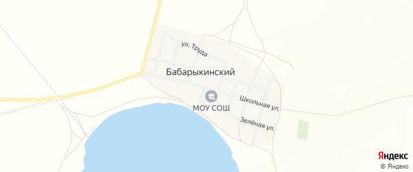 Карта Бабарыкинского поселка в Челябинской области с улицами и номерами домов