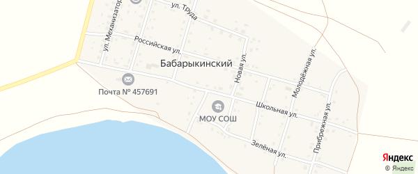 Молодежная улица на карте Бабарыкинского поселка с номерами домов