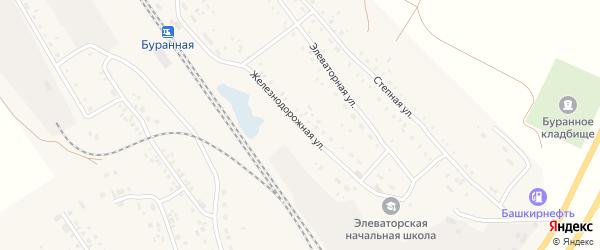 Железнодорожная улица на карте железнодорожной станции Субутака с номерами домов