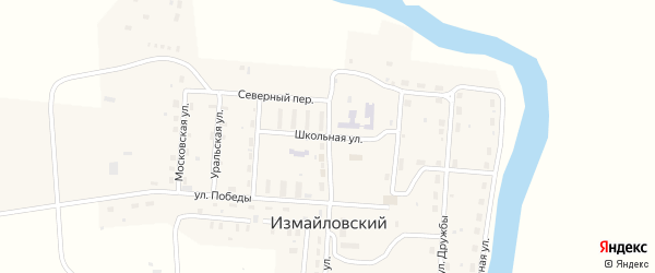 Школьная улица на карте Измайловского поселка с номерами домов