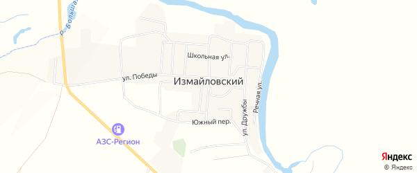 Карта Измайловского поселка в Челябинской области с улицами и номерами домов