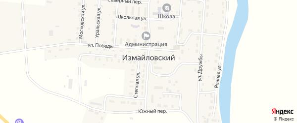 Улица Победы на карте Измайловского поселка с номерами домов