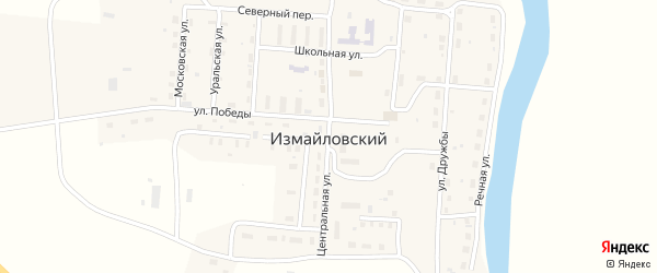 Центральная улица на карте Измайловского поселка с номерами домов