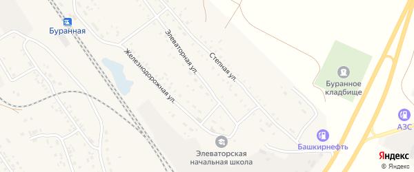 Элеваторная улица на карте Буранной железнодорожной станции с номерами домов