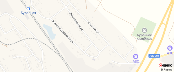 Элеваторная улица на карте железнодорожной станции Гумбейки с номерами домов