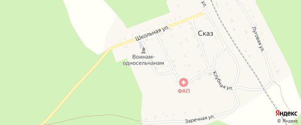 Советская улица на карте поселка Сказа с номерами домов