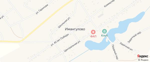 Запрудная улица на карте села Имангулово с номерами домов