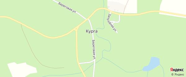 Береговая улица на карте деревни Курги с номерами домов