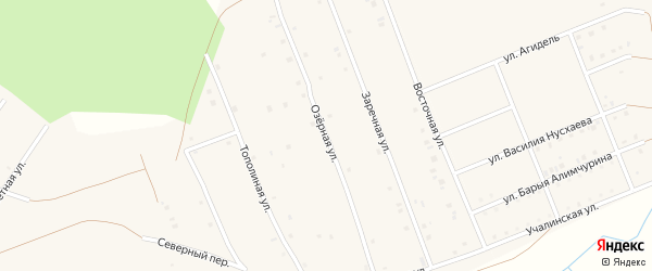 Озерная улица на карте села Кунакбаево с номерами домов