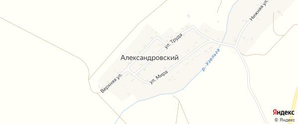 Нижняя улица на карте Александровского поселка с номерами домов