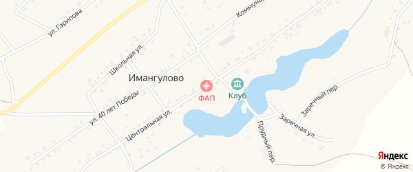 Центральная улица на карте села Имангулово с номерами домов