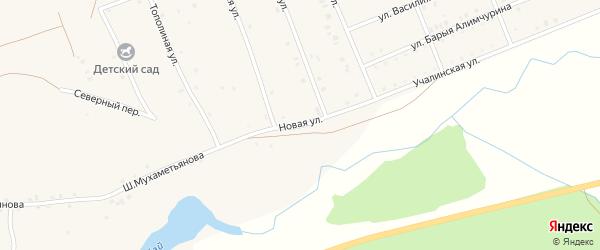 Новая улица на карте села Кунакбаево с номерами домов
