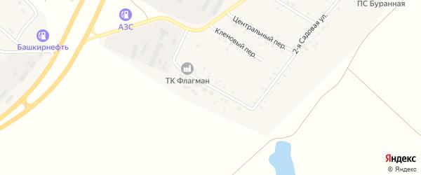 Полевая 2-я улица на карте Буранного поселка с номерами домов