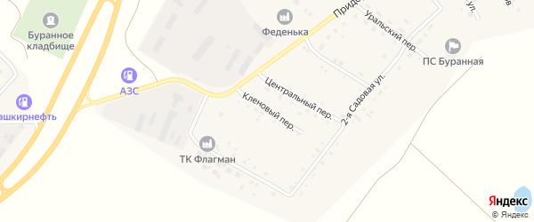 Кленовый переулок на карте Буранного поселка с номерами домов