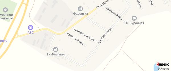 Центральный переулок на карте Буранного поселка с номерами домов