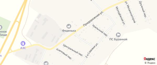 Радужная улица на карте Буранного поселка с номерами домов