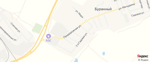 Карта Буранного поселка в Челябинской области с улицами и номерами домов