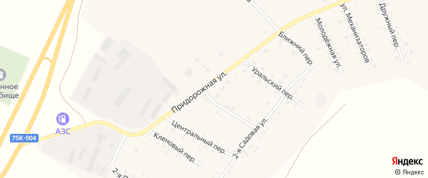 Восточный переулок на карте Буранного поселка с номерами домов