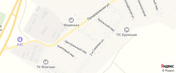 Урожайный переулок на карте Буранного поселка с номерами домов