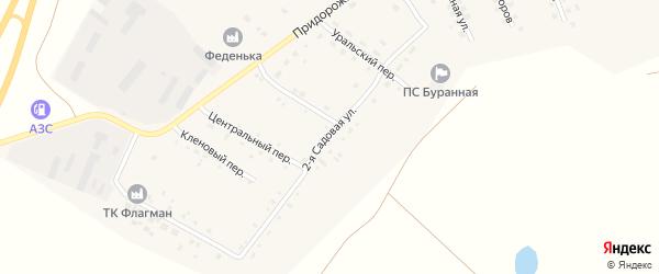 Садовая 2-я улица на карте Буранного поселка с номерами домов