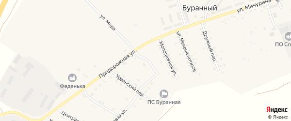 Ближний переулок на карте Буранного поселка с номерами домов