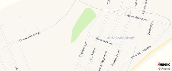 Сосновая улица на карте Учалы с номерами домов