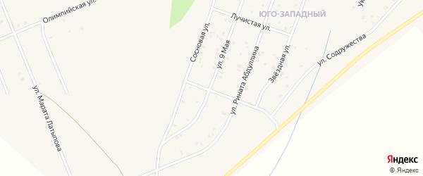 Соловьиная улица на карте Учалы с номерами домов