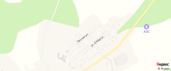 Лесная улица на карте села Петропавловки с номерами домов