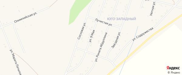 9 Мая улица на карте Учалы с номерами домов