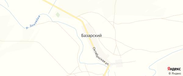 Карта Базарского поселка в Челябинской области с улицами и номерами домов