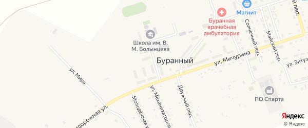 Школьная улица на карте Буранного поселка с номерами домов