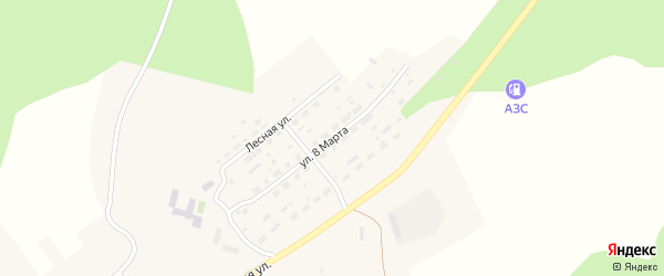Улица 8 Марта на карте села Петропавловки с номерами домов