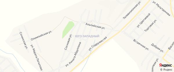 Южный микрорайон на карте Учалы с номерами домов