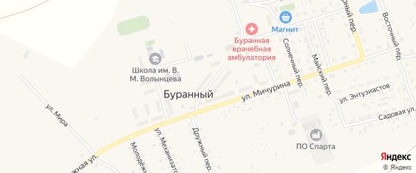 Торговая улица на карте Буранного поселка с номерами домов